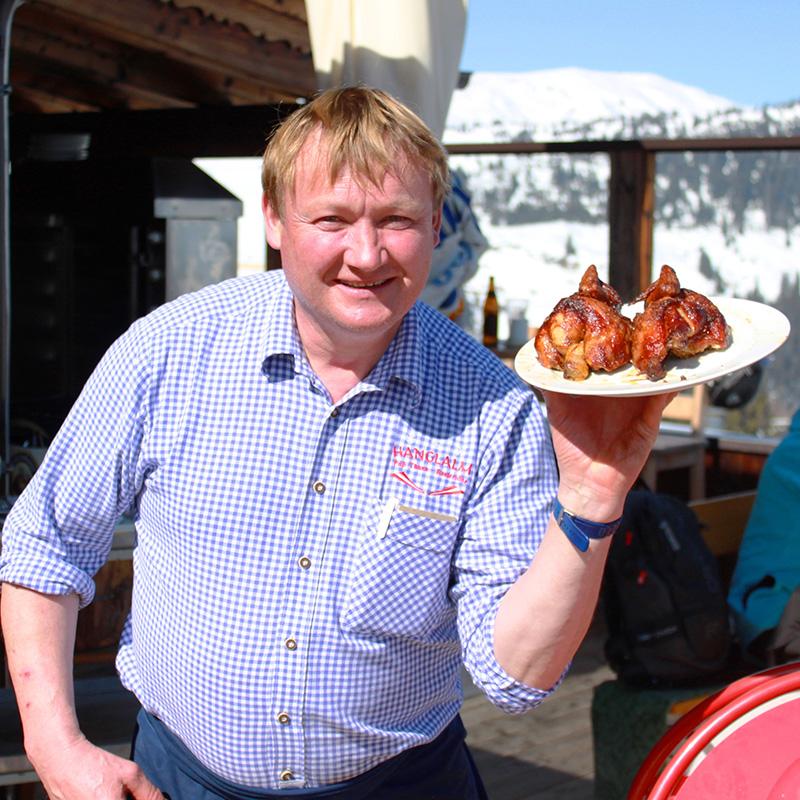 Aus unserer Speisekarte: knuspriges Grillhendl